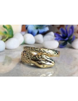 Gold Snake Ring   Animal Jewelry   Silver Snake Ring   Band Ring   Simpe Jewelry   Serpent Ring   Vintage Ring by Etsy