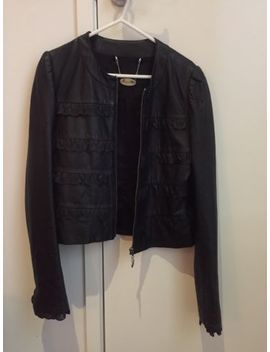 Final Sale! Alannah Hill Lamb Leather Jacket Size 8 Black With Silk Lining by Alannah Hill