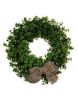 """August Grove Four Leaf Clover 14"""" Plastic Wreath by August Grove"""