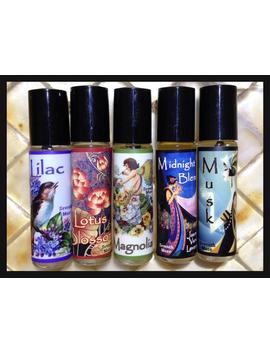 Roll On Perfume Oils    Lilac, Lotus Blossom, Magnolia, Midnight Blend Or Musk by Etsy