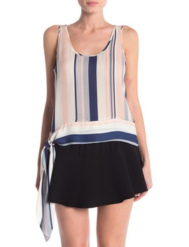 Kris Stripe Sleeveless Blouse by Ramy Brook