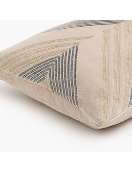 Compono Chevron Velvet Lumbar Pillow by J.Crew