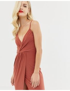 Asos Design Slinky Wrap Maxi Dress by Asos Design