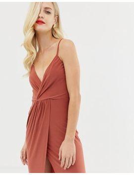 Asos Design Slinky Wrap Maxi Dress by Asos Design
