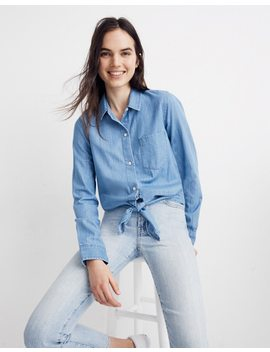 Denim Tie Front Shirt In Hillford Wash by Madewell