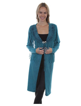 Honey Creek By Scully Women's Fringe Concho Duster by Scully