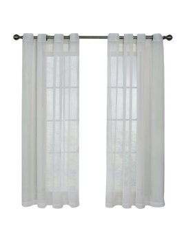 Arm & Hammer™ Curtain Fresh™ Odor Neutralizing Voile Solid Sheer Grommet Single Curtain Panel & Reviews by Arm & Hammer™ Curtain Fresh™
