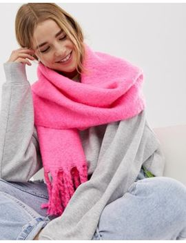 New Look Neon Plain Scarf In Pink by New Look