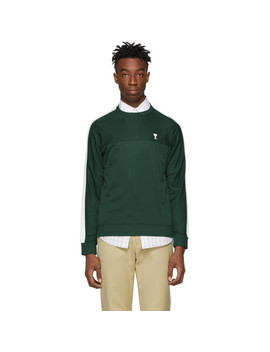 Green Technical Sweatshirt by Ami Alexandre Mattiussi