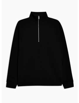 Black Funnel Neck Sweatshirt by Topman