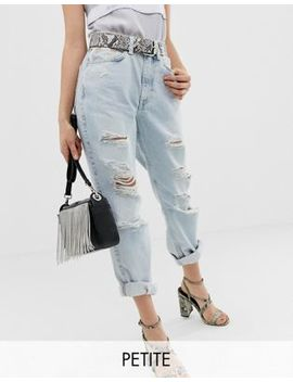 River Island Petite Mom Jeans In Light Wash by River Island Petite