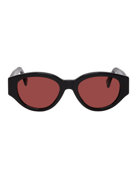 Black & Red Drew Mama Sunglasses by Super