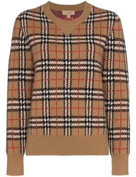 Vintage Check Cashmere Jacquard Sweater by Burberry