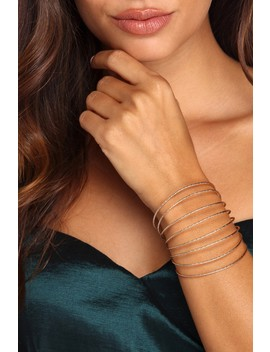 Final Sale   Dazzling Textured Cuff by Windsor