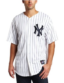 Mlb New York Yankees Robinson Cano Home Replica Baseball Jersey, White/Navy by Majestic