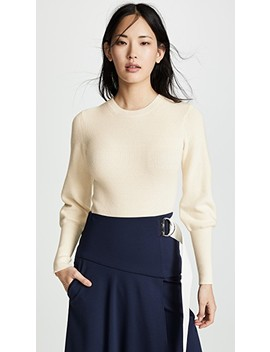 Blouson Sleeve Sweater by Theory