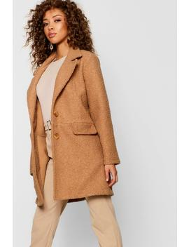 Teddy Faux Fur Boyfriend Coat by Boohoo