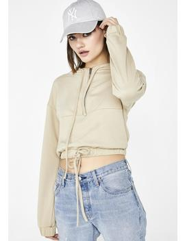 Done Deal Cropped Hoodie by Wild Honey