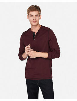 Seamed Performance Long Sleeve Henley by Express