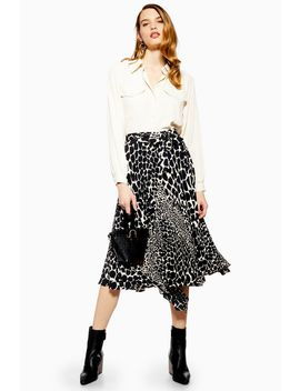 Giraffe Pleat Midi Skirt by Topshop