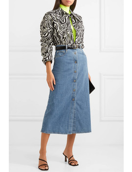 Denim Midi Skirt by Miu Miu