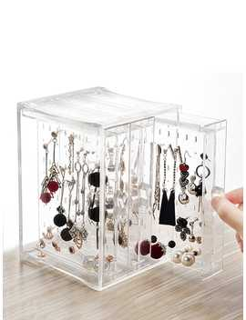 3drawers Clear Jewelry Storage Box by Romwe