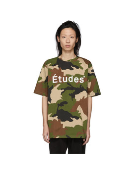 Green & Brown Camo Wonder T Shirt by Études