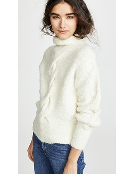 Mohair Cable Turtleneck by Theory