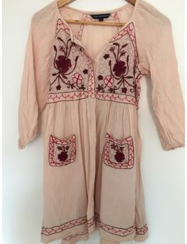 French Connection Pink Boho Dress Uk 8 by Ebay Seller