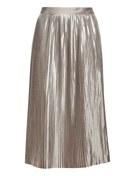 Petite Metallic Pleated Midi Skirt by Banana Repbulic