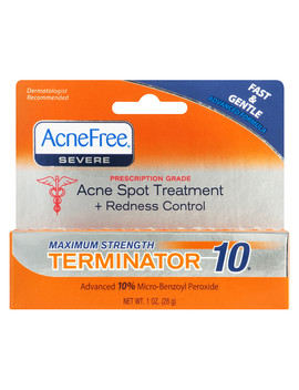 Acne Free Terminator 10 Acne Spot Treatment With Benzoyl Peroxide1.0 Oz by Walgreens