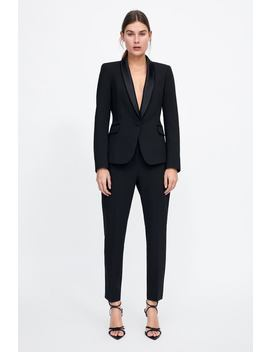Tuxedo Jacket With Lapels  New Inwoman New Collection by Zara