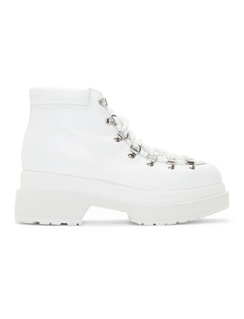 White Hiking Boots by Mm6 Maison Margiela