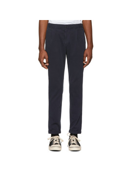 Navy Stretch Trousers by Ps By Paul Smith
