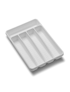 Madesmart Value Mini Silverware Tray   White | Value Collection | 5 Compartments | Durable | Bpa Free by Made Smart