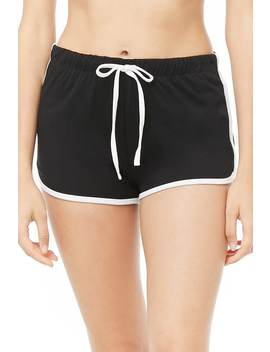 Contrast Dolphin Pajama Shorts by Forever 21
