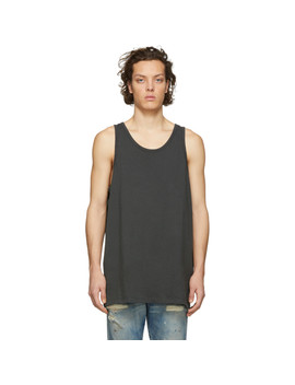 Grey Oversized Rugby Tank Top by John Elliott