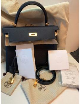 Hermes Kelly 28 K28 Handbag Handtasche Damen Eu Rechnung Neu Versiegelt Bleu Ovp by Ebay Seller