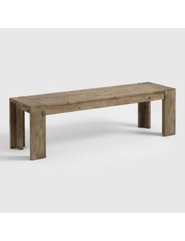 Natural Wood Finn Dining Bench by World Market