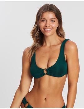Safari Rib Fixed Triangle Bikini Top by Nookie Beach