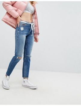 Tommy Jeans Izzy High Rise With Ripped Knee by Tommy Jeans Capsule