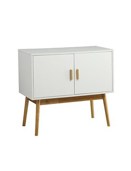 Convenience Concepts Oslo Console/Storage Cabinet, White/Woodgrain by Convenience Concepts