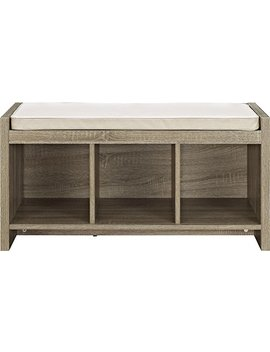 Ameriwood Home Penelope Entryway Storage Bench With Cushion, Distressed Gray Oak by Ameriwood Home