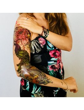 Peacock Dance Glory   Temporary Tattoo Xxl   Temporary Tattoo Sleeve   Polynesian Arm Tattoo by Etsy