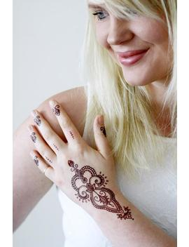 Henna Style Temporary Tattoo / Bohemian Temporary Tattoo / Henna Style Tattoo / Boho Gift / Festival Temporary Tattoo / Festival Accessoire by Etsy