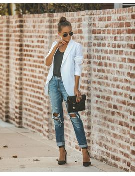 Bellissimo Pocketed Blazer   Off White by Vici