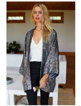 Emerson Fry Sequin Topper   Gunmetal by Garmentory