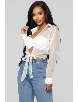 You're So Transparent Top   White by Fashion Nova