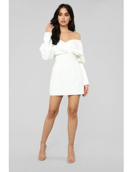 Got It In The Bag Mini Dress   White by Fashion Nova