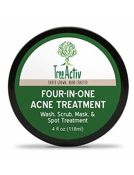 Tree Activ Four In One Acne Treatment | Wash, Scrub, Mask, And Spot Treatment | Heals Rosacea | Exfoliating Sugar | Face Or Body | Natural Sulfur Clear Skin... by Tree Activ